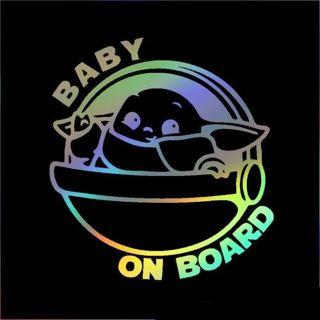 1pc. Baby Yoda Baby on Board Sticker