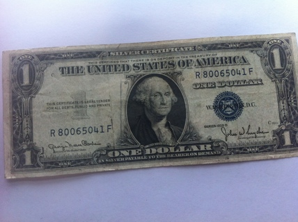 Free: 1935 D 1$ Silver Certificate One Dollar Bill 1$ Face Value ...