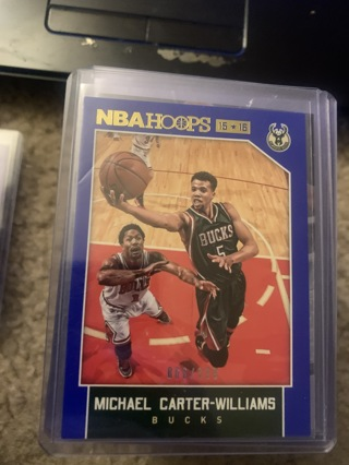 Michael Carter Williams 66/399 2015-16 Hoops Blue Parallel #234 Bucks