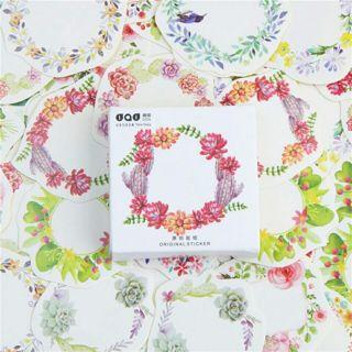 45 Pcs/lot Mini Wreath Paper Sticker Decoration DIY Ablum Diary Scrapbooking Label Sticker