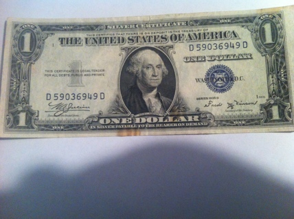 Free: 1935 B 1$ Silver Certificate One Dollar Bill 1$ Face Value ...