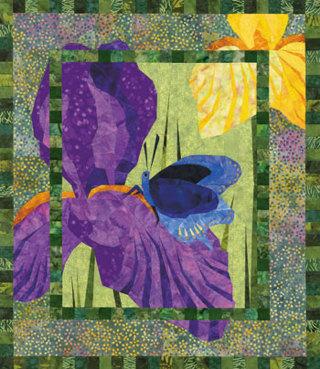 Free backyard beauties butterfly iris garden foundation paper backyard beauties butterfly iris garden foundation paper piecing quilt pattern mightylinksfo
