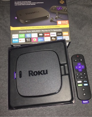 Free: Roku 4 4Roku Ultra | HD/4K/HDR Streaming Media Player Voice