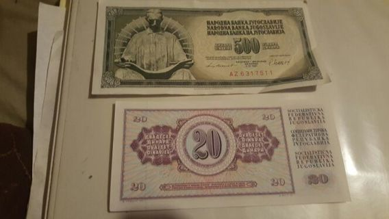 Foreign Banknotes total of 2