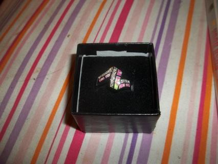Stunning Pink Fire Opal & White Topaz Ring
