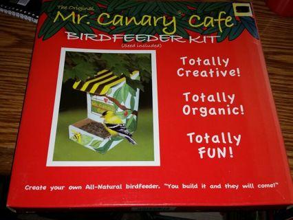 Mr Canary cafe bird feeder kit totally creative totally organic totally fun