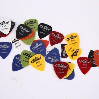 40PCS Acoustic Electric Guitar Picks Plectrum Various 6 Thickness w/ Pick Box