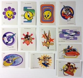 (12) Warner Bros. Looney Tunes Character Temporary Tattoos - Bugs Bunny, Tweety Bird, Road Runner!