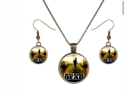 Walking dead necklace and earrings Brand New