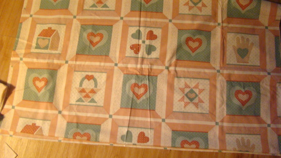 vintage quilt top with priarie points
