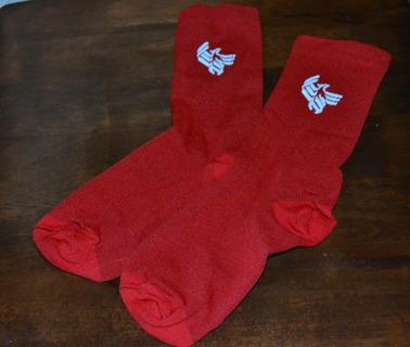 Red University Of Phoenix Socks As Seen In Commercial