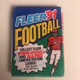 Fleer 91' unopened Football Cards