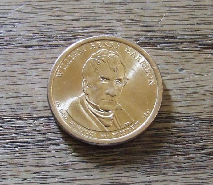 william harrison gold dollar coin