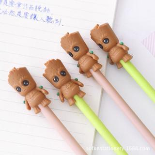 Cute Cartoon Flowerpot Baby Gel Pen For Writing Kawaii Student Black Ink 0.5mm School Supplies Sta