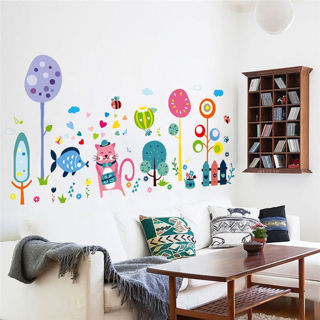 Cartoon Kitten Family Wall Stickers Vinyl Decal Art Mural DIY Home Room Decor