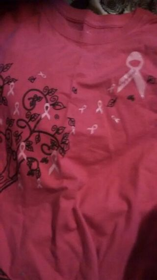 Breast cancer pink shirt.