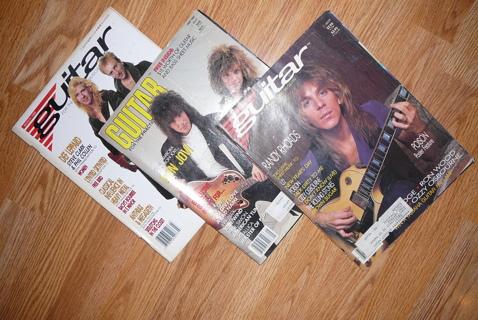 3 Vintage Guitar Magazines