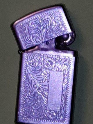 Vintage Chrome Venetian Zippo Lighter