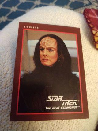 Star trek card - K'ehleyr