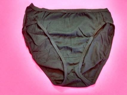 1 New Women's Hanes Pantie - Size 7 - Black