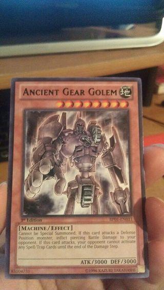 Free: yugioh ancient gear golem black lettering - Trading