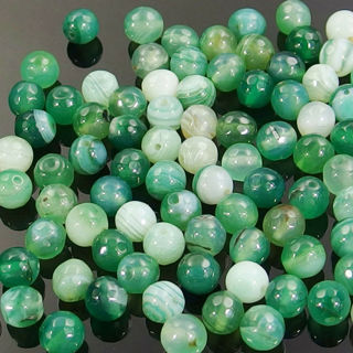 Series IV natural gemstone spacer beads 4mm 6mm 8mm 10mm faceted round stone DIY