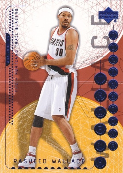 Free Rasheed Wallace   Upper Deck Triple Dimensions Portland Trail Blazers
