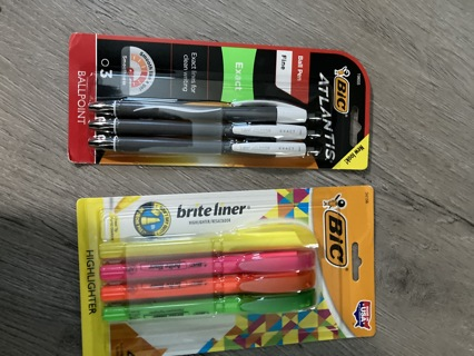 BIC Pens & Highlighters (new)