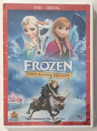 Disney Frozen Sing-Along Edition DVD + Digital Movie with Case and Artwork - New Sealed!