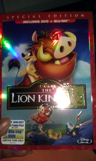 THE LION KING 1 1/2 ...  dvd &blu ray never been watched...NO REWARDS POINTS!