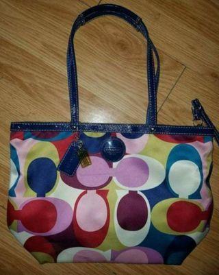 Authentic coach scarf tote purse.