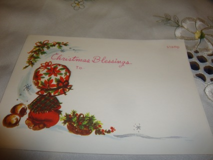 Christmas Blessing ~ Vintage Postcard ~ Free Shipping