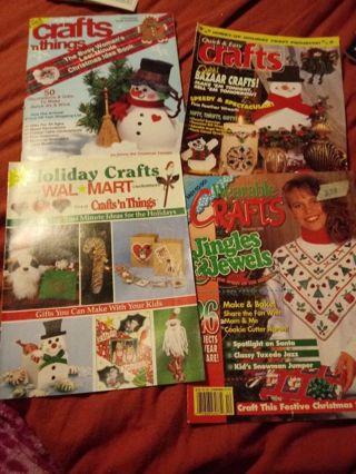 4 Holiday Craft Magazines/ Books