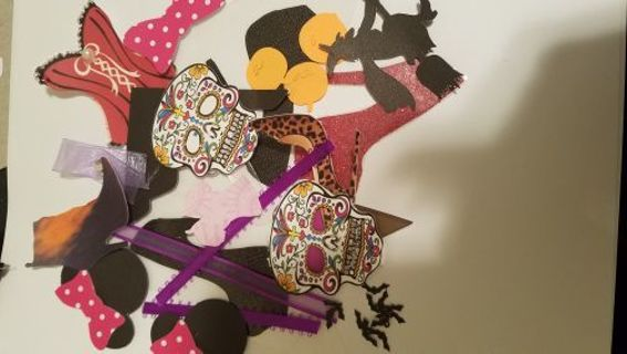 Assorted die cuts and embellishments(our choice) 50 PCs...free shipping!
