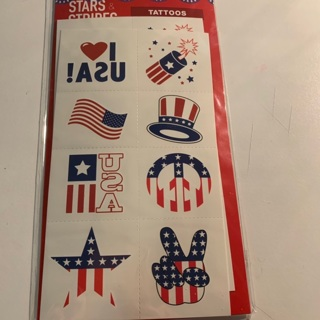 4th of July Temporary Tattoos (SET 3)