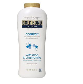 Gold Bond Ultimate Comfort Body Powder Aloe, White Fresh, 10 Ounce