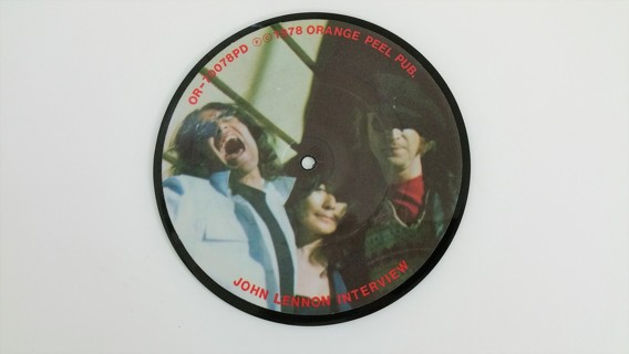 1978 JOHN LENNON PICTURE 45 Record> Read Below..Free Shipping.
