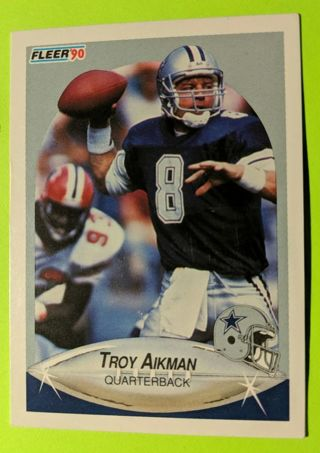 TROY AIKMAN ROOKIE CARD * FIRST FLEER CARD