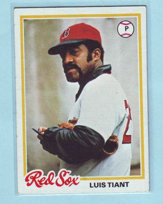 1978 Topps Luis Tiant Baseball Card # 345 Red Sox