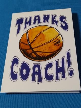 Card - THANKS COACH !