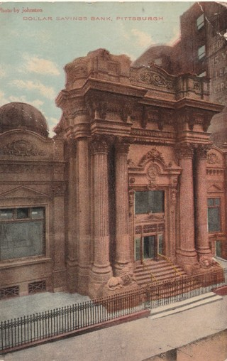 Vintage Used Postcard: 1911 Dollar Savings Bank, Pittsburgh, PA