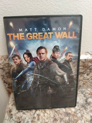 ☆ミ☆彡☆ Hurry! THE GREAT WALL DVD (2017) Pre-owned Good Cond. FREE SHIP 2500 xnk
