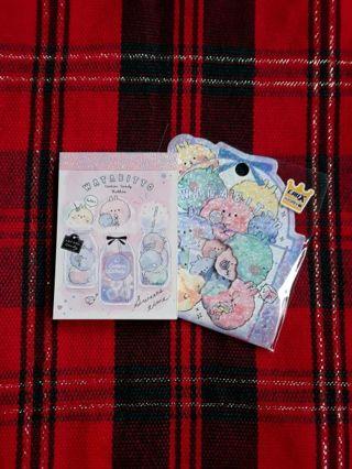"""Crux """"Watabitto"""" Mini-Memo Pad & Matching Sticker Sack Lot!! ☆Kawaii Bonus☆ *Last Set!!*"""