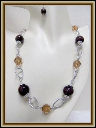 1 SET-Necklace Earrings Set