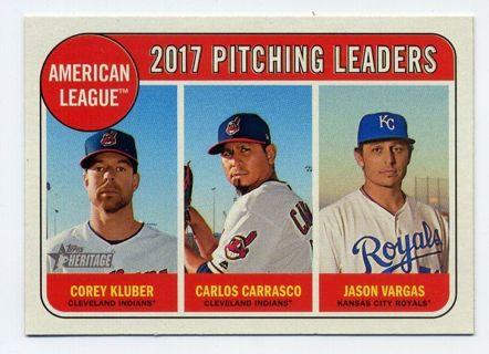 Free 2018 Topps Heritage Baseball 9 C Kluber C