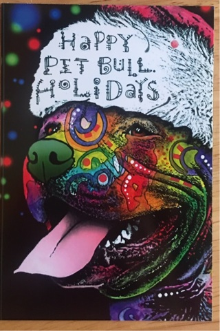 """PIT BULL HOLIDAY! - 4 x 5"""" MAGNET"""