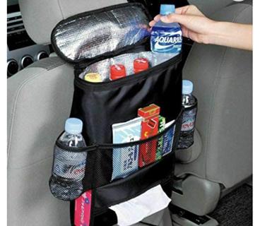 MACHSWON Foldable Lid Car Trash Bag Bin Garbage Hanging Leak-Proof