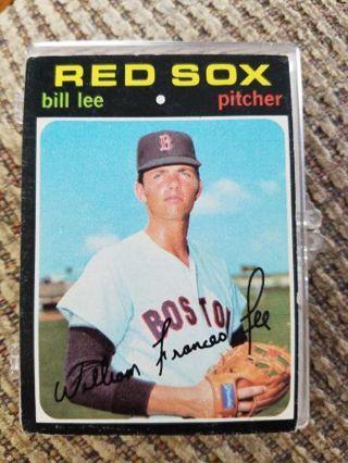 1971 Topps baseball Bill Lee Red Sox