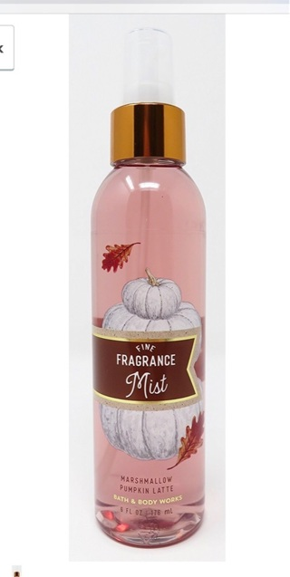 Bath and Body Works ~ fine fragrance mist ~ marshmallow pumpkin latte~SOLD OUT in stores~