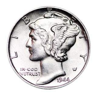 One Mercury Silver Dime Coin - Buy Coins From Around The World